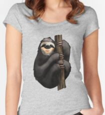 Two-toed Sloth Women's Fitted Scoop T-Shirt