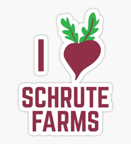 I Love Schrute Farms Sticker