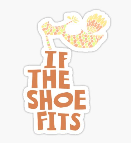 If the Shoe Fits Retro footwear with1960s style Type Sticker