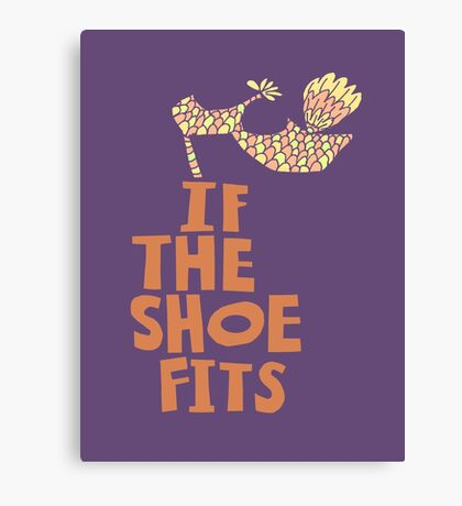 If the Shoe Fits Retro footwear with1960s style Type Canvas Print