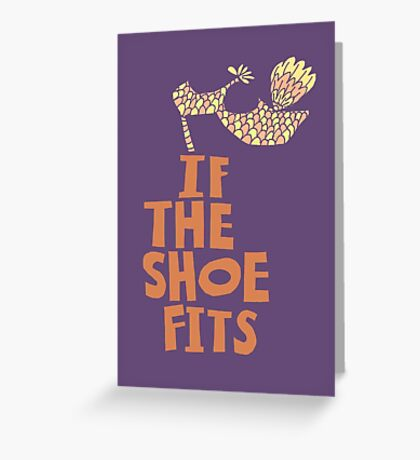 If the Shoe Fits Retro footwear with1960s style Type Greeting Card