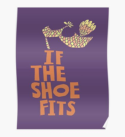 If the Shoe Fits Retro footwear with1960s style Type Poster