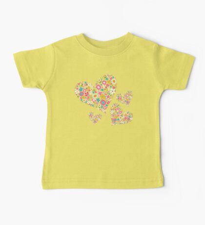 Whimsical Spring Flowers Pink Valentine Hearts Kids Clothes