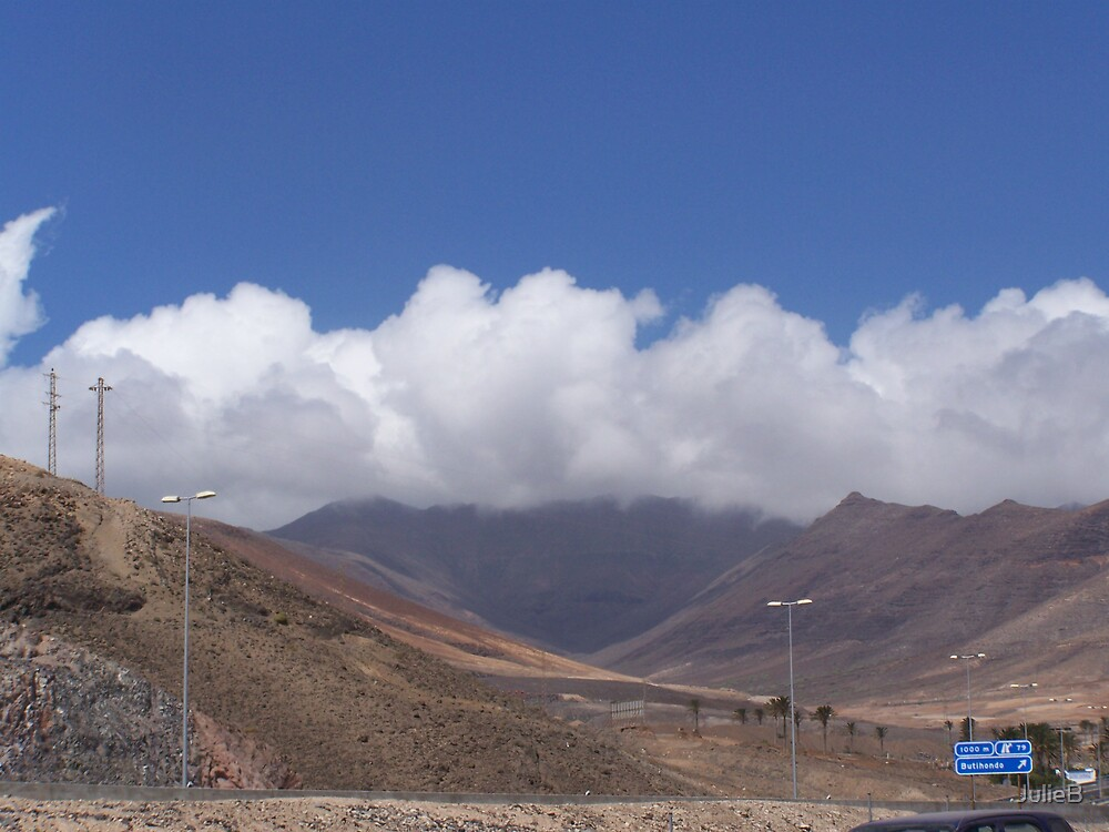 mountainous terrain in the canaries by JulieB
