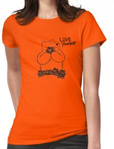 Love Yourself - black lines Womens Fitted T-Shirt