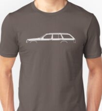 Car silhouette for Mercedes W124 E-Class station wagon enthusiasts T-Shirt