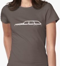 Car silhouette - W124 station wagon Women's Fitted T-Shirt
