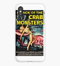 Attack of the Crab Monsters - vintage movie poster iPhone Case/Skin