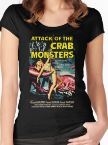 Attack of the Crab Monsters - vintage movie poster Women's Fitted Scoop T-Shirt