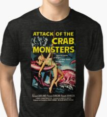 Attack of the Crab Monsters - vintage movie poster Tri-blend T-Shirt