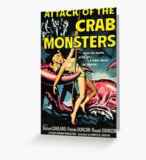 Attack of the Crab Monsters - vintage movie poster Greeting Card