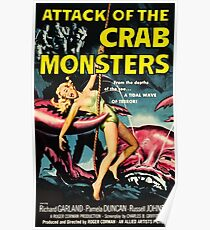 Attack of the Crab Monsters - vintage movie poster Poster