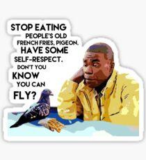 Tracy Jordan: Friend of Pigeons Sticker