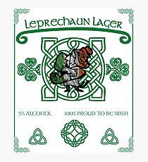 Leprechaun Lager Photographic Print