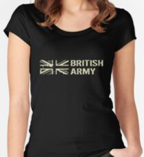 British Army (Black Flag) Women's Fitted Scoop T-Shirt