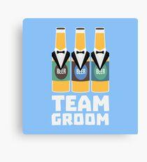 Team Groom Beerbottles Rqf18 Canvas Print