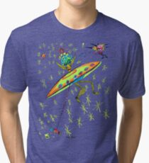 Alien Landing Tri-blend T-Shirt