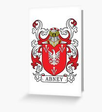 Abney Coat of Arms Greeting Card
