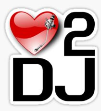 Love 2 DJ Sticker