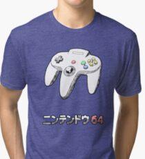 64 CONTROLLER Tri-blend T-Shirt