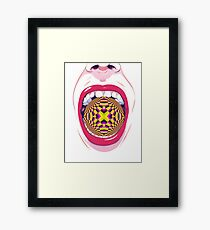 ILLUSION BALL MOUTH Framed Print