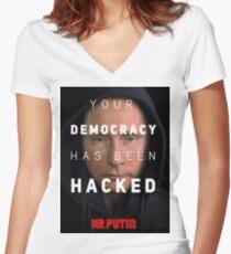 Mr. Putin Women's Fitted V-Neck T-Shirt
