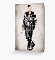 Ninth Doctor Greeting Card