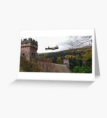 Lancaster VR-A at the Derwent Dam Greeting Card