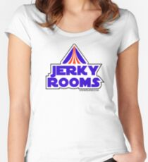 Jerky Rooms! -- Star Tours Parody Women's Fitted Scoop T-Shirt
