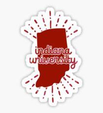 Indiana University - Style 26 Sticker