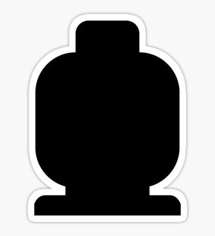 Black Minifig Head  Sticker