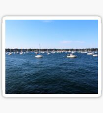 Boats on the Ocean Photograph Sticker