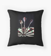 3 of a Kind or Bulls Eye Throw Pillow