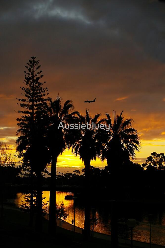 Jet sunset. by Aussiebluey