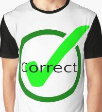 Camiseta gráfica correcto