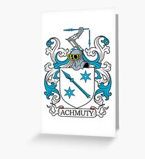 Achmuty Coat of Arms Greeting Card