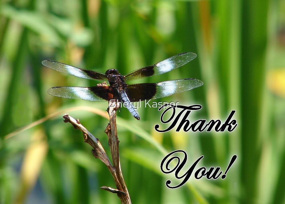 Dragonfly Thank You by Sheryl Kasper