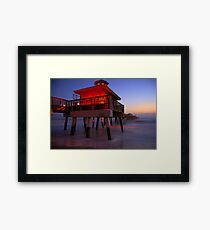 The Beach Lantern at Sunrise Framed Print