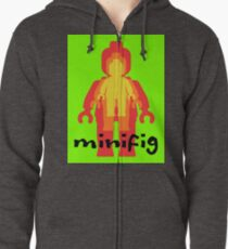 Colored Minifigs Zipped Hoodie