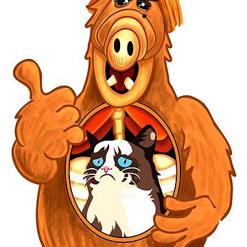 ALF Grumpy Cat  by apeape