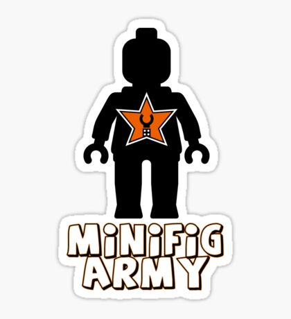 """MINIFIG ARMY"" Minifig with Customize My Minifig Star Logo Sticker"