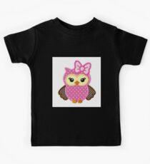 Baby Owl Design Kids Tee