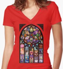 Undertale Universe Women's Fitted V-Neck T-Shirt