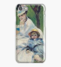 Auguste Renoir - Camille Monet And Her Son Jean In The Garden At Argenteuil, 1874 iPhone Case/Skin