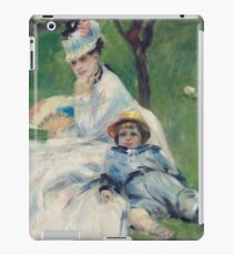Auguste Renoir - Camille Monet And Her Son Jean In The Garden At Argenteuil, 1874 iPad Case/Skin