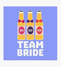 Team Bride Beerbottles R26ll Photographic Print