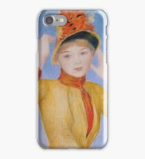 Auguste Renoir - Bust Of A Woman Yellow Dress iPhone Case/Skin