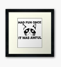 Had Fun Once It Was Awful Framed Print