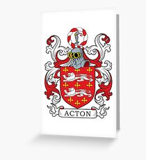 Acton Coat of Arms Greeting Card