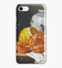 Edward Ladell - Shrimps, A Peeled Lemon, A Glass Of Wine iPhone Case/Skin